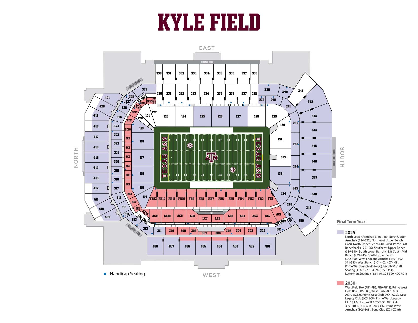 kyle field final term years graphic